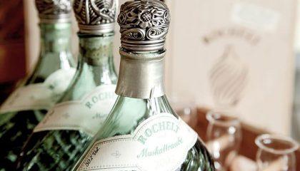 Flaschen Muskattraube in der Nahaufname