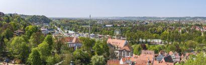 Überblick über die Stadt Landshut in Niederbayern