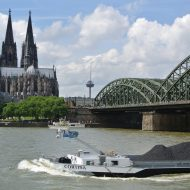 Skyline von Köln mit Dom und Hohenzollerbrücke