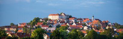 Städtchen und Burg in der Oberpfalz