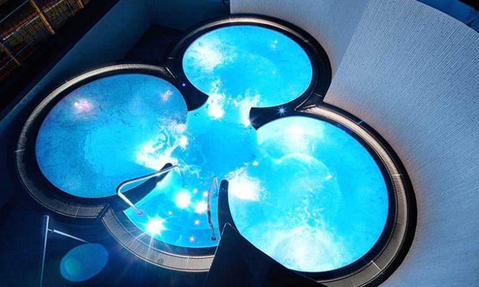 Pool auf dem Dach mit 3 Becken