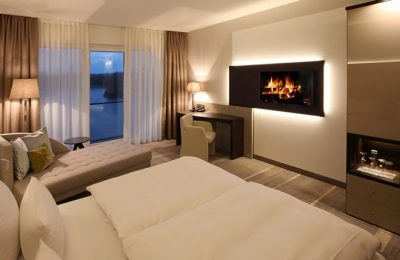 Wohnraum im Panoramazimmer Deluxe