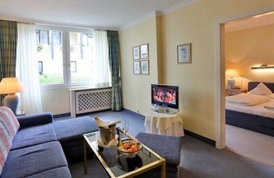 Wohnraum in den Suiten