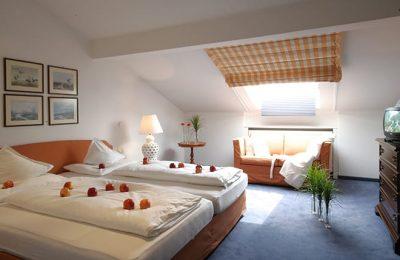 Schlafraum in einer Suite