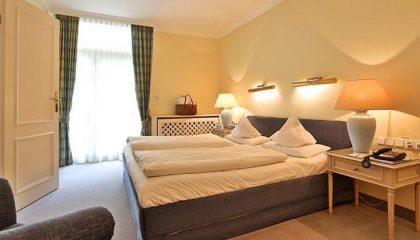 Bett in der Suite
