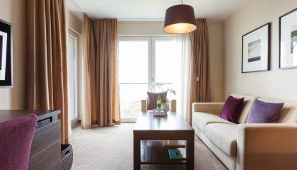 Wohnraum in der Suite Deluxe