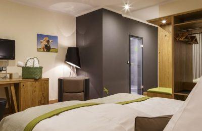 Wohnraum im Doppelzimmer Stammhaus Premium Talseite