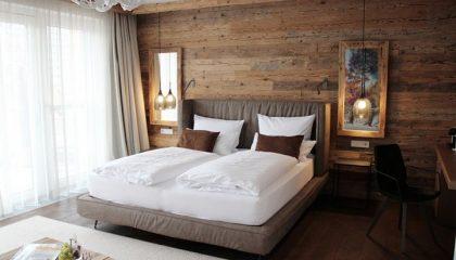 Bett in der Junior Suite Füchschen