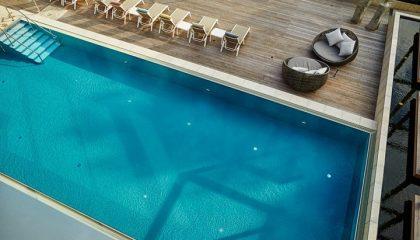 Luftaufnahme vom Outdoor Pool