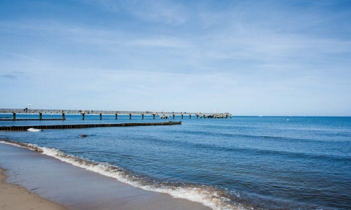Blick auf die Ostsee vom Strand aus