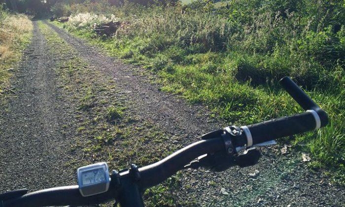 Mountainbikfahrer aus der Ich Perspektive
