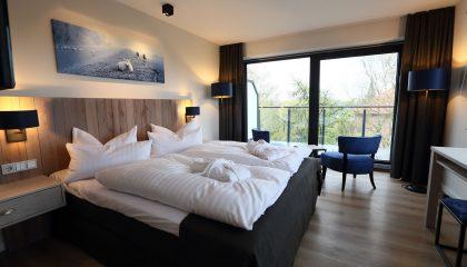 Bett im Komfortzimmer Südseite